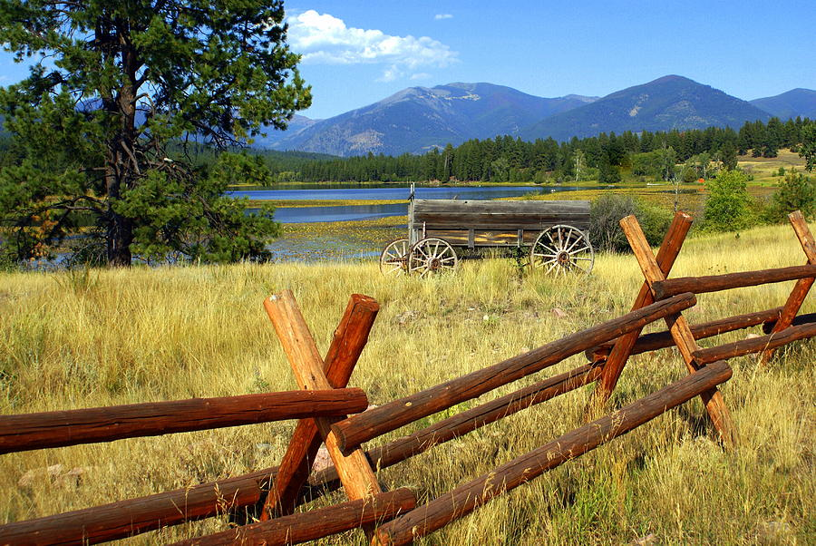 Landscape Photograph - Wagon West by Marty Koch