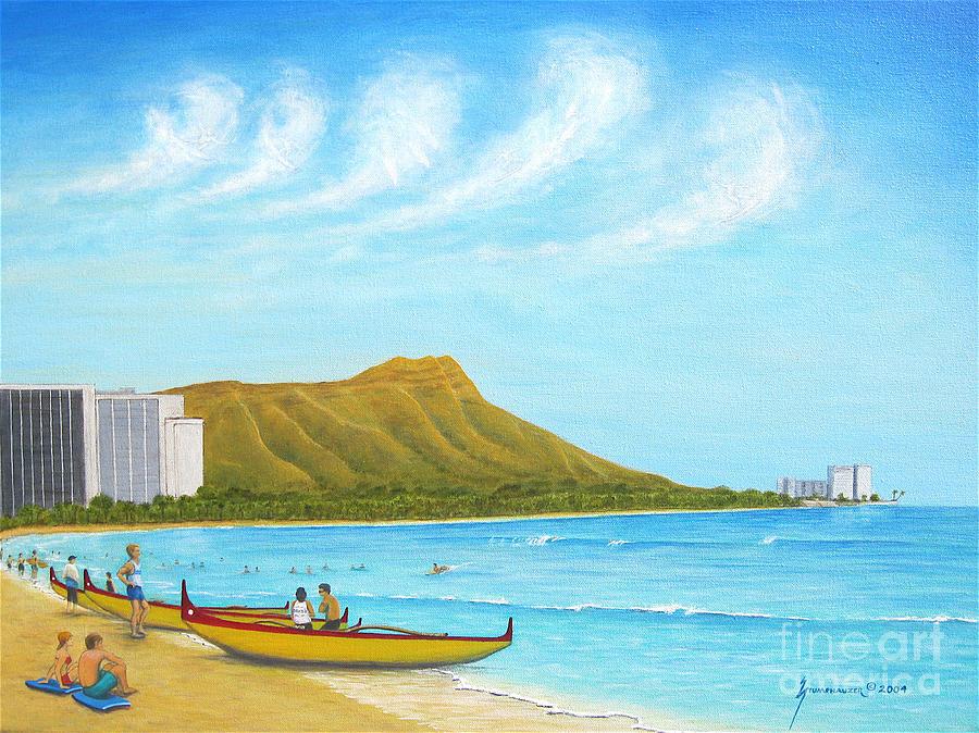 Waikiki Painting - Waikiki Wonder by Jerome Stumphauzer