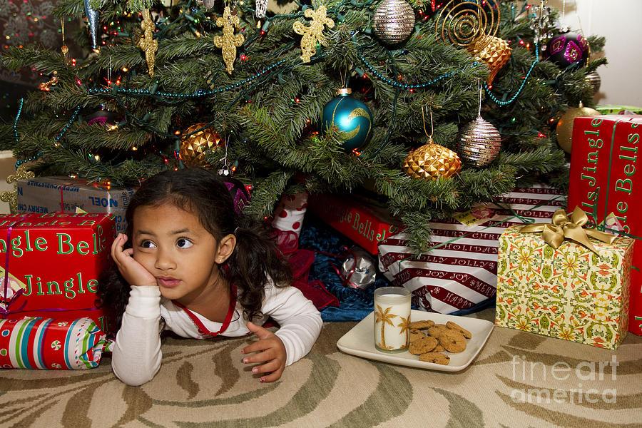 Adorable Photograph - Waiting For Santa by Sri Maiava Rusden - Printscapes