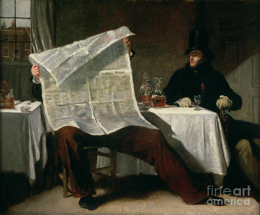 Waiting Painting - Waiting For The Times by Benjamin Robert Haydon