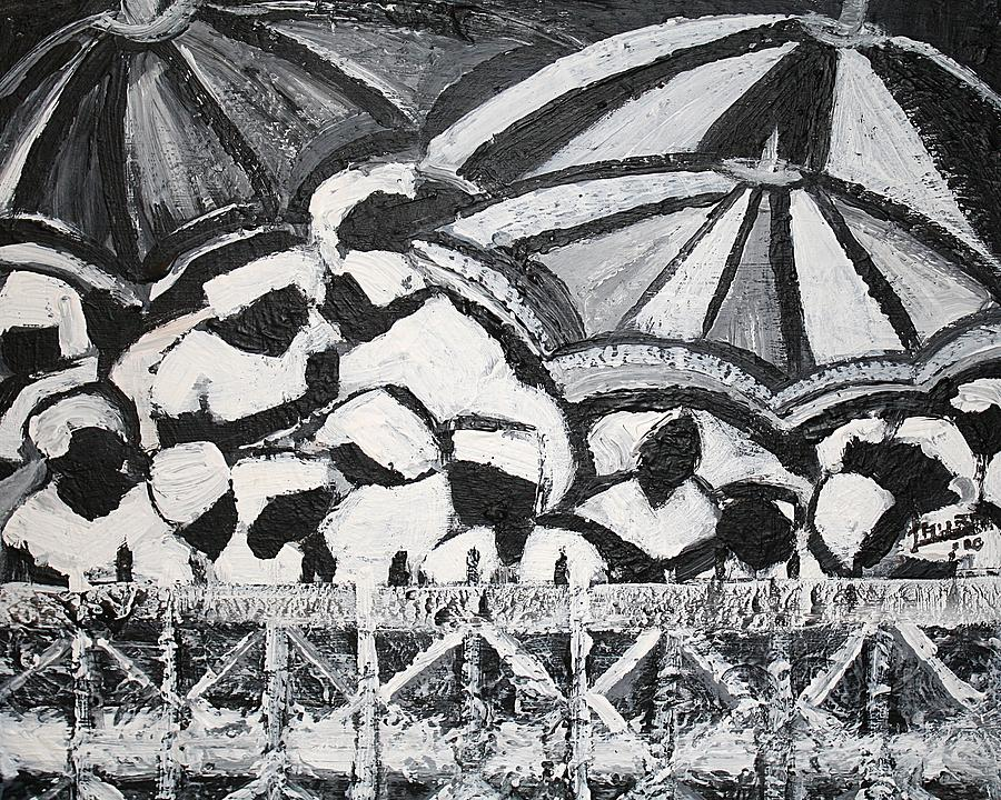 Black And White Painting - Waiting In Limbo by Laura Fatta