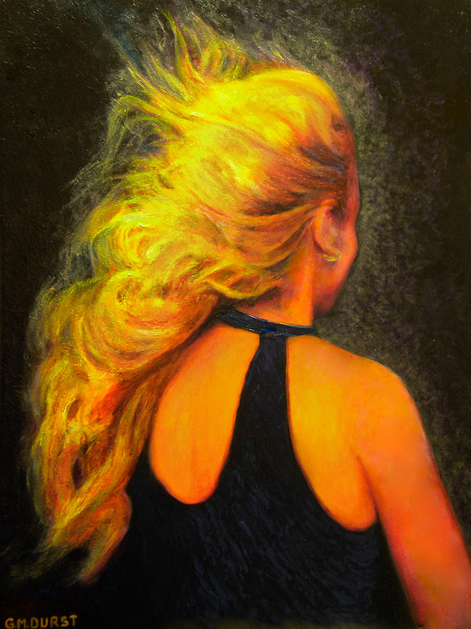 Woman Painting - Waiting In The Wind by Michael Durst