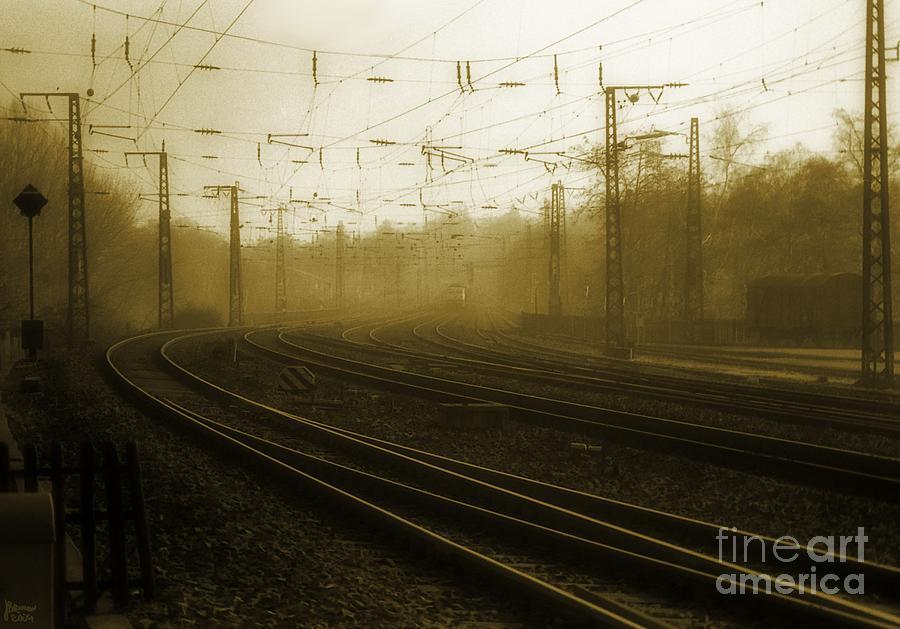Train Photograph - Waiting by Jeff Breiman
