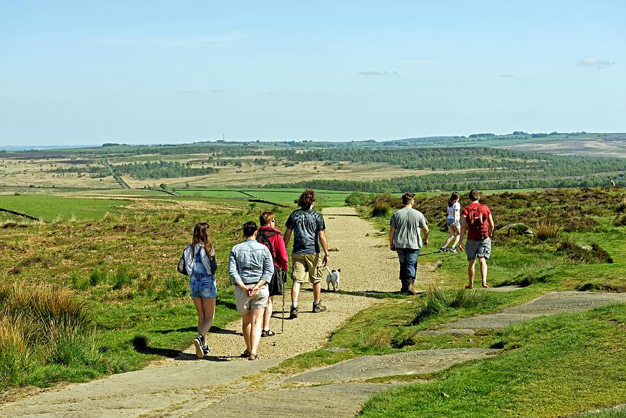 Walkers On Curbar Edge Footpath Photograph