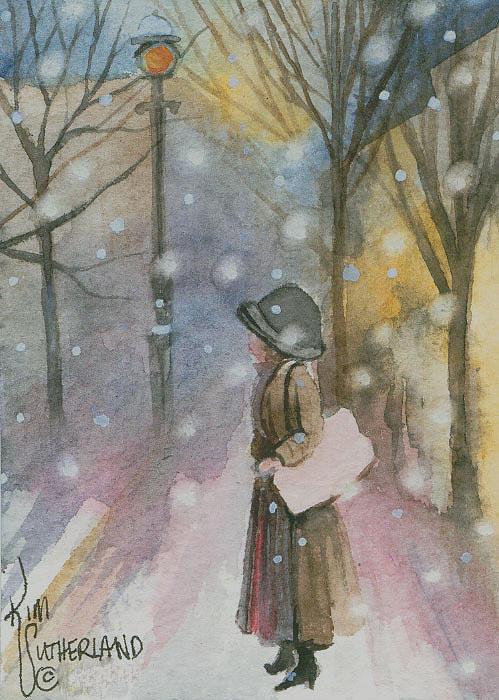 Walking In A Winter Wonderland Painting