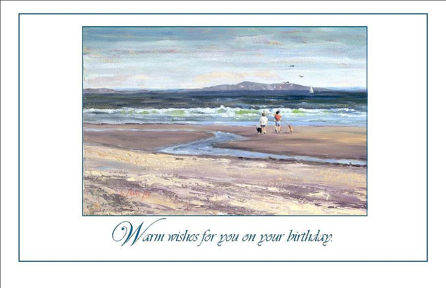 Nantasket Beach Painting - Walking The Dogs Nantasket by Laura Lee Zanghetti