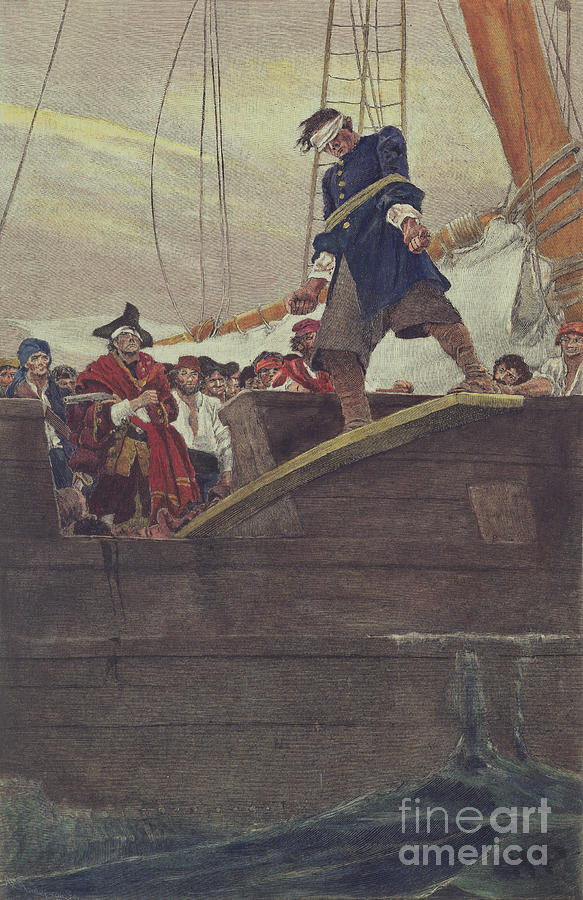 Plank Painting - Walking The Plank by Howard Pyle