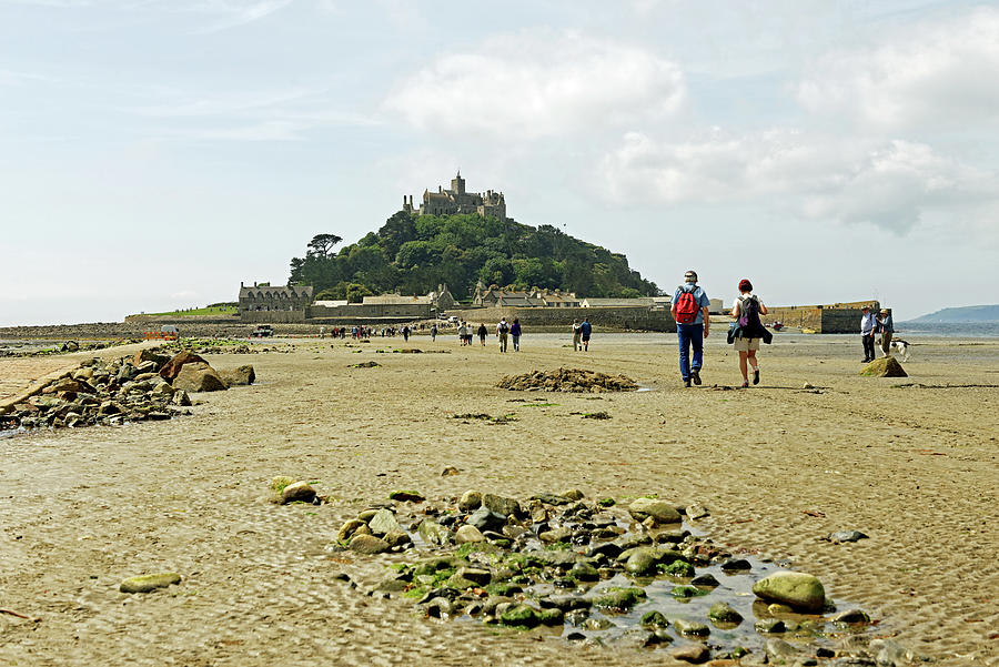Walking To St Michaels Mount Photograph