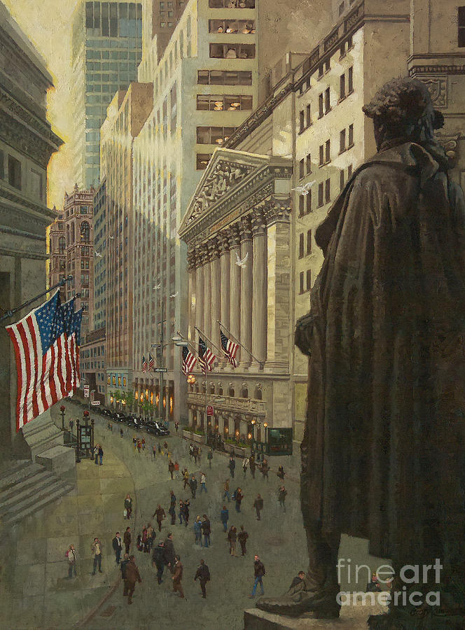 Wall St. Framed Prints Painting - Wall Street 1 by Gary Kim