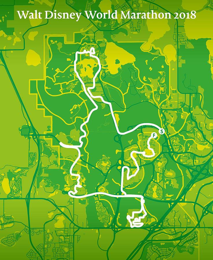 Walt Disney World Marathon 2 Digital Art By Big City Artwork