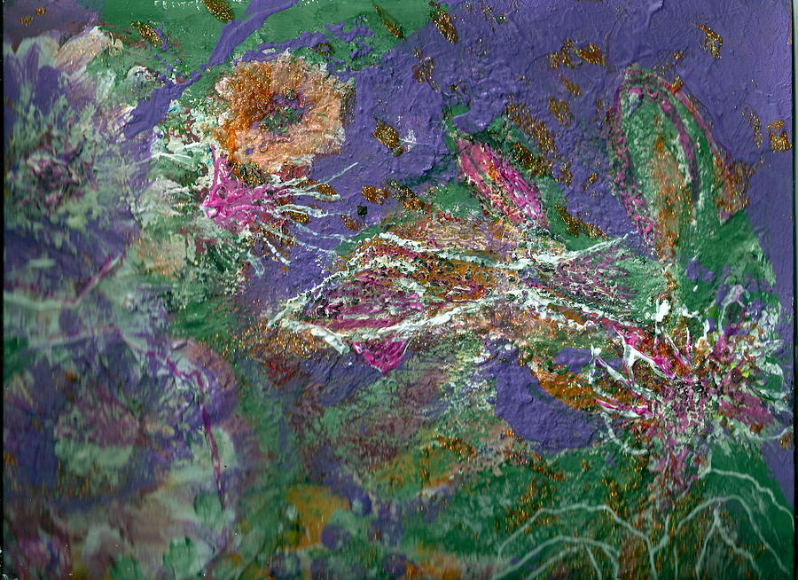 Abstract Painting - Wandering And Wondering by Anne-Elizabeth Whiteway