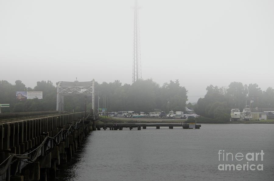 Wando River Bridge Fog Photograph
