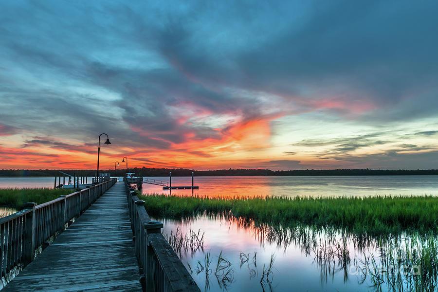 Wando River Sunset Burst Photograph