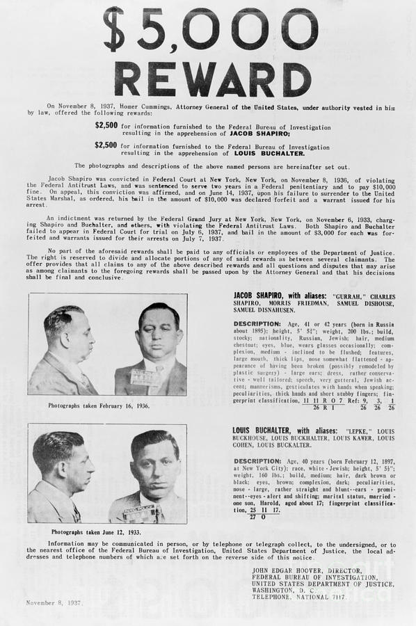 Wanted Poster, 1937 Photograph