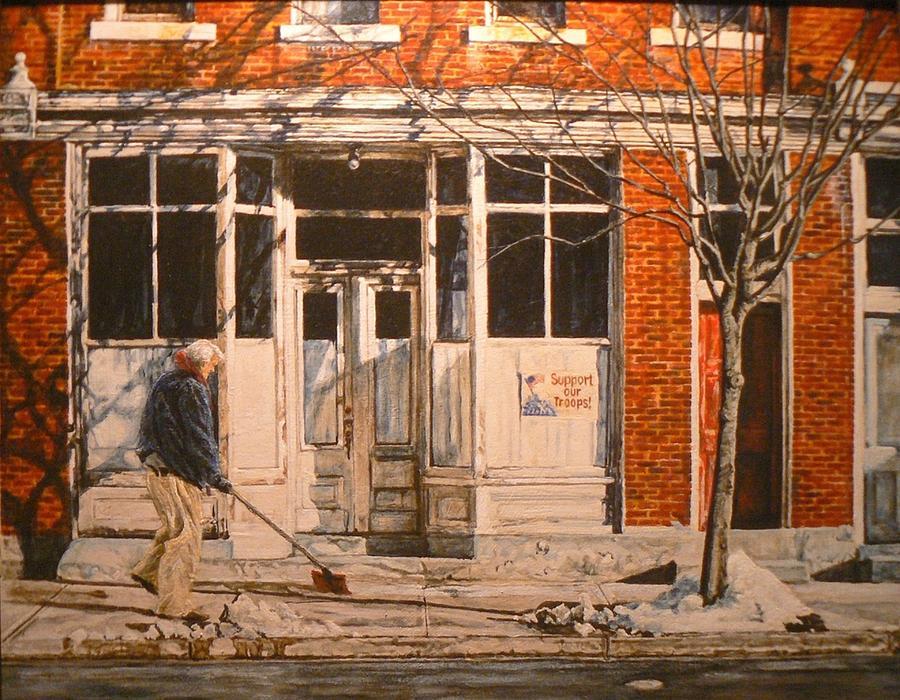 Appalachian Life Painting - War At Home by Thomas Akers