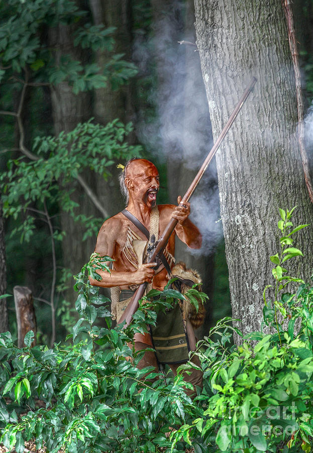 Warrior Digital Art - War Cry Indian Warrior by Randy Steele