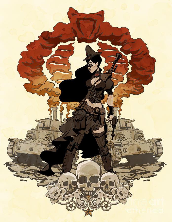 Comic Photograph - War Maiden by Brian Kesinger