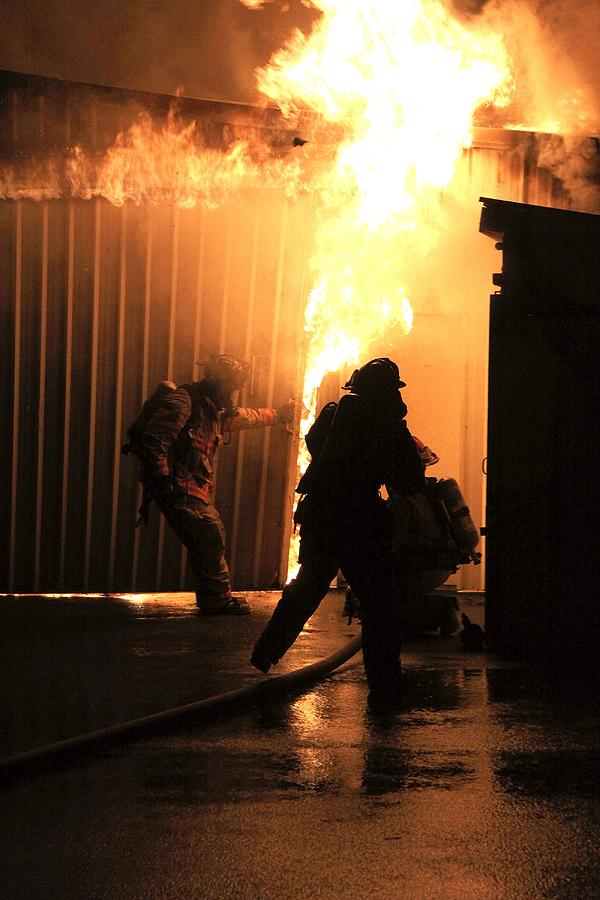 Fire Photograph - Warehouse Fire by Cary Ulrich