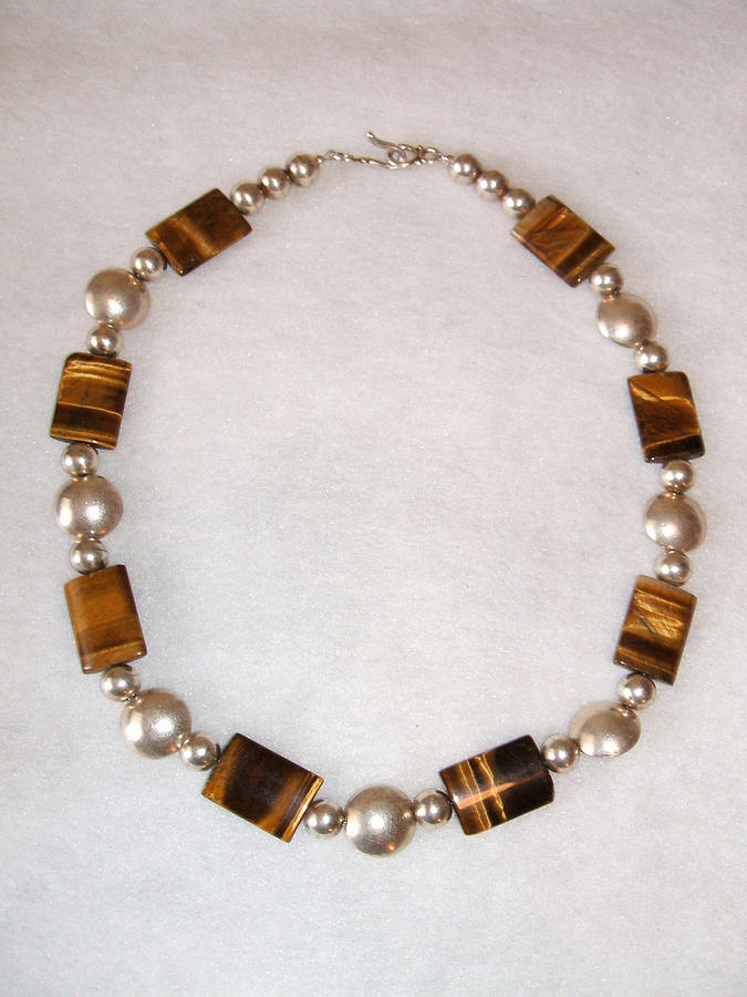 Tiger Eye And Silver Jewelry - Warrior Woman by Linda Levier