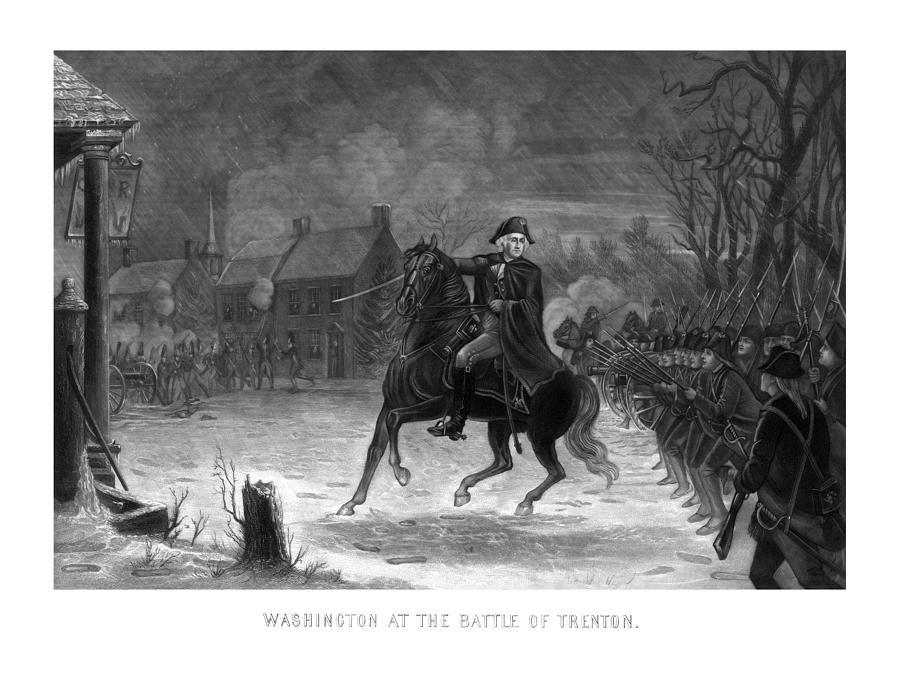 Washington At The Battle Of Trenton Painting