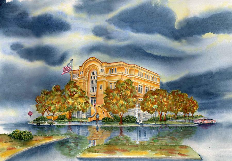 Washington County Painting - Washington County Courthouse by Ragon Steele