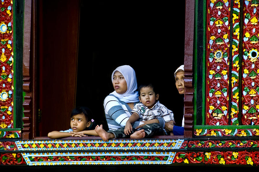 Art Photograph - Watching From A Window by Charuhas Images