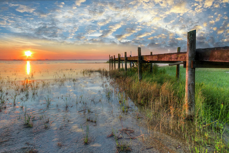Clouds Photograph - Watching The Sun Rise by Debra and Dave Vanderlaan