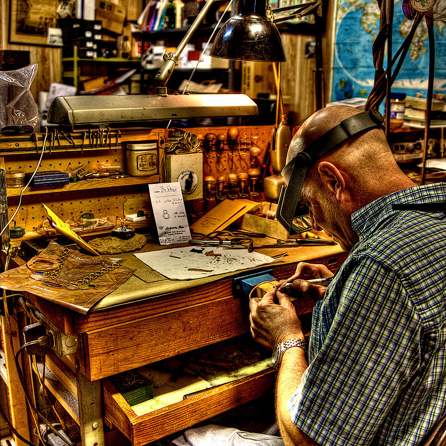 Watchmaker Photograph - Watchmaker by William Wetmore