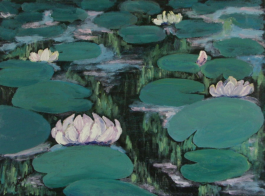 Water Lilies Painting - Water Lilies In Hawaii by Zanobia Shalks
