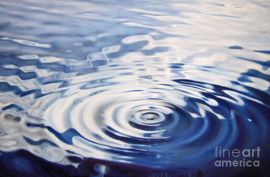 Water Ripple Painting by Michelle Iglesias