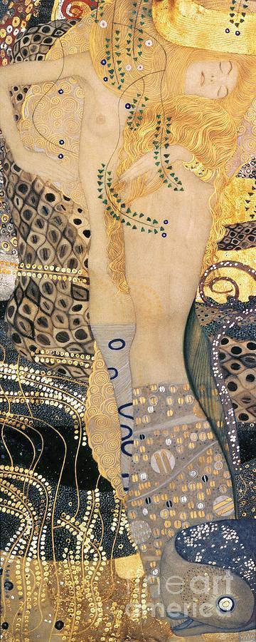Gustav Klimt Painting - Water Serpents I by Gustav klimt
