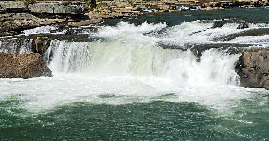 Ohiopyle State Park Photograph - Waterfall At Ohiopyle State Park by Larry Ricker