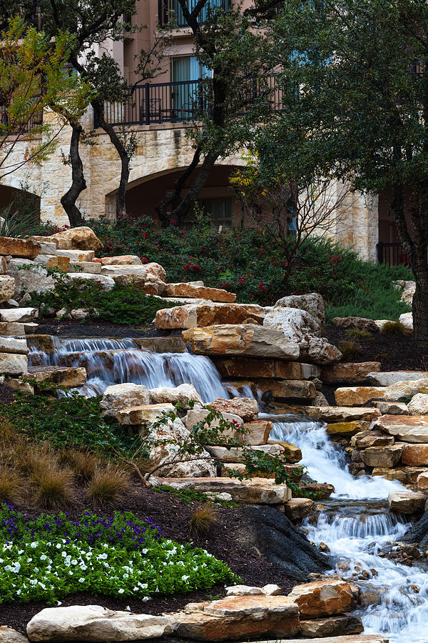 Waterfall At The J.w. Marriott Photograph