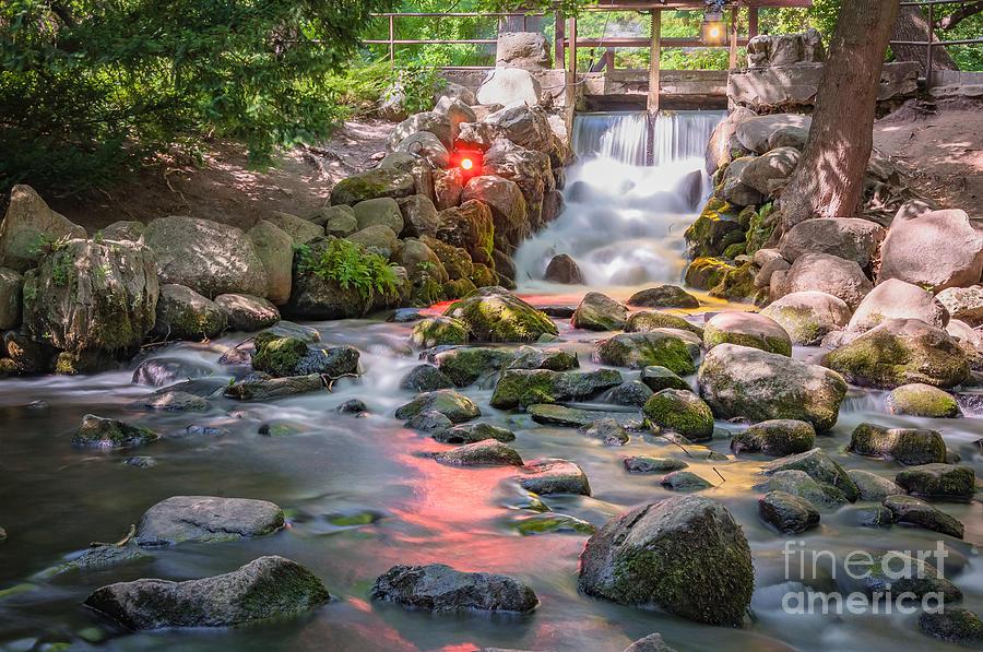 Waterfall In Gdansk Oliwa Park Photograph