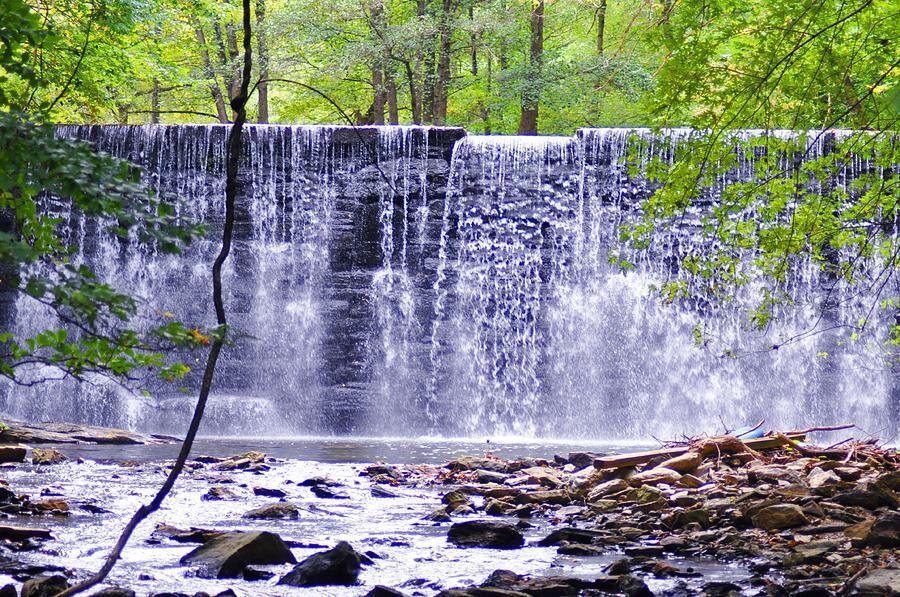 Waterfall In Gladwyne Photograph