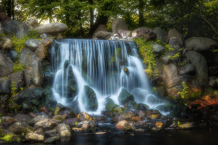 Waterfall In Sonsbeek Park Photograph