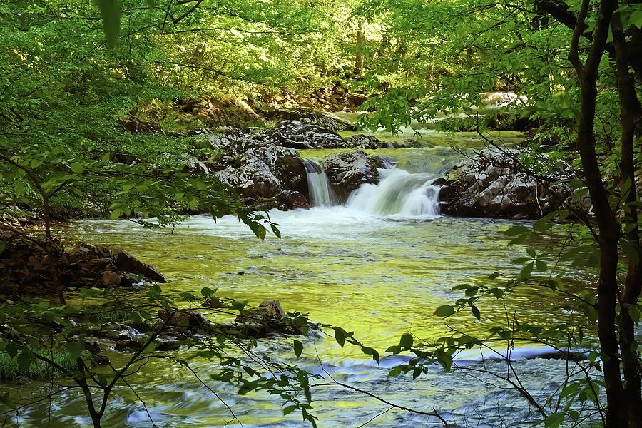 Waterfall Reflections Photograph