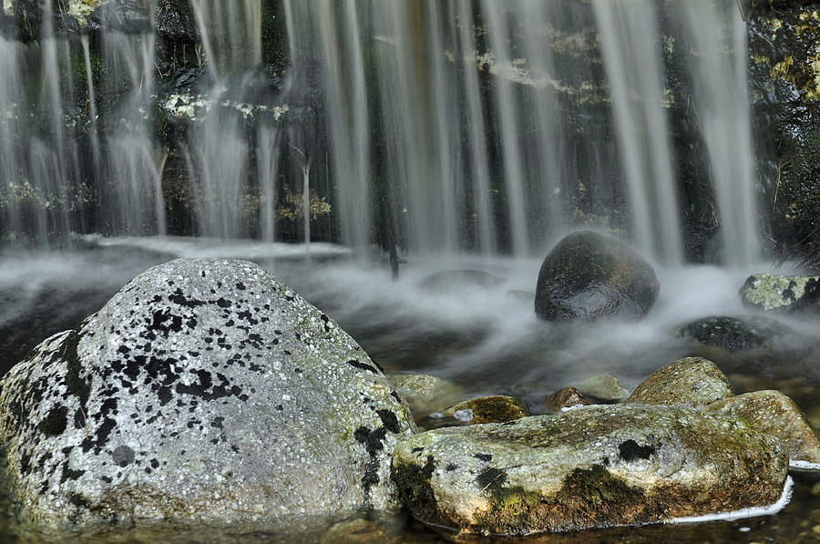 Waterfall Photograph - Waterfall Ribbons by Stephen  Vecchiotti