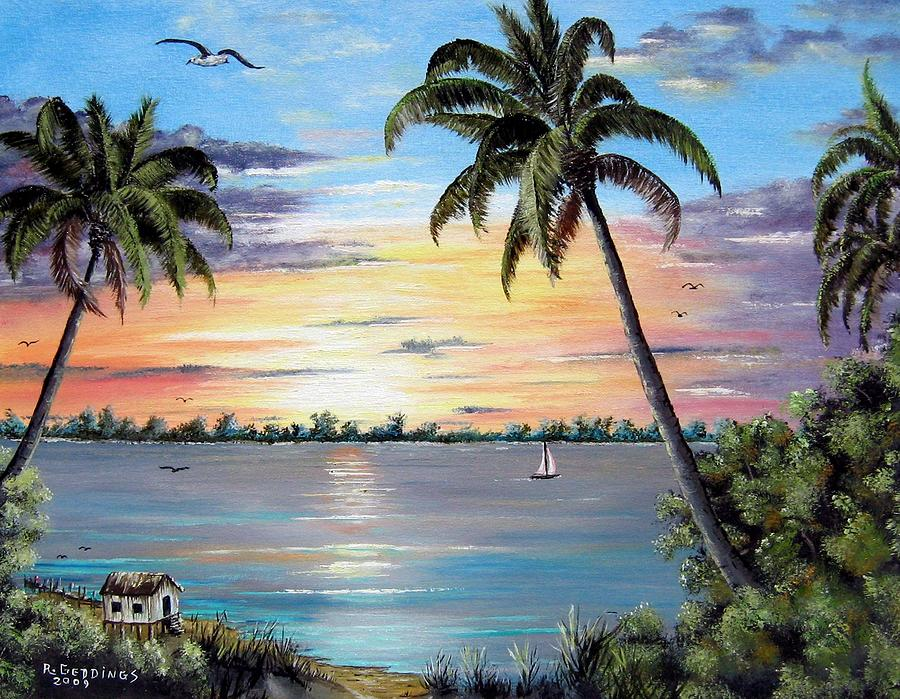 Sailboat Painting - Waterfront Property by Riley Geddings