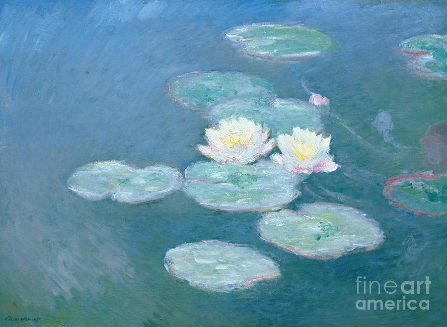 Waterlilies Painting - Waterlilies Evening by Claude Monet