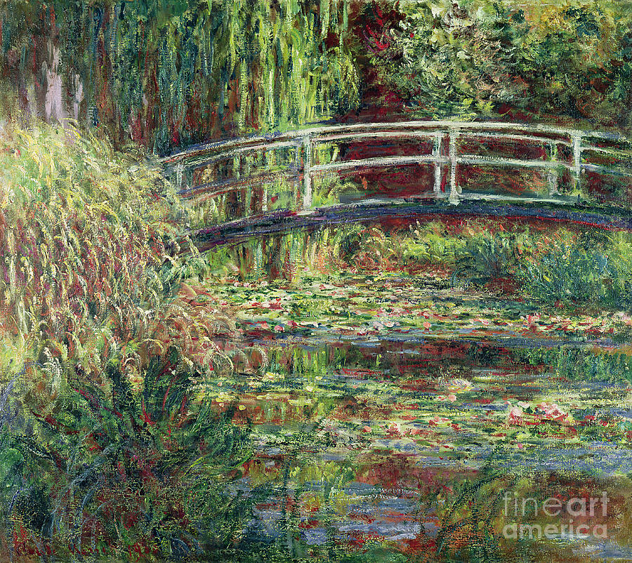 Waterlily Painting - Waterlily Pond by Claude Monet