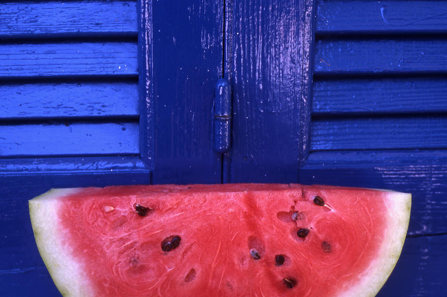 Watermelon Photograph - Watermelon by Steve Outram