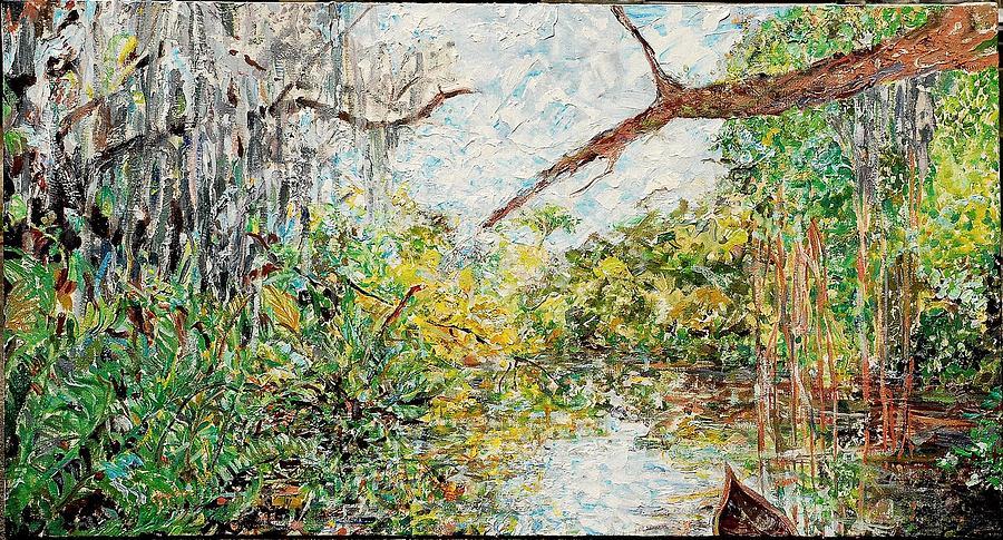 Waters We  Billys Creek Painting by Caroline Krieger Comings