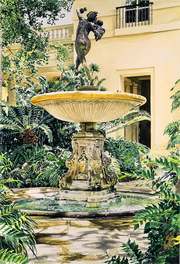 Fountains Painting - Watersounds II by David Lloyd Glover
