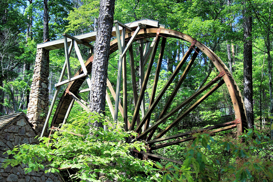 Historic Photograph - Waterwheel by Johann Todesengel
