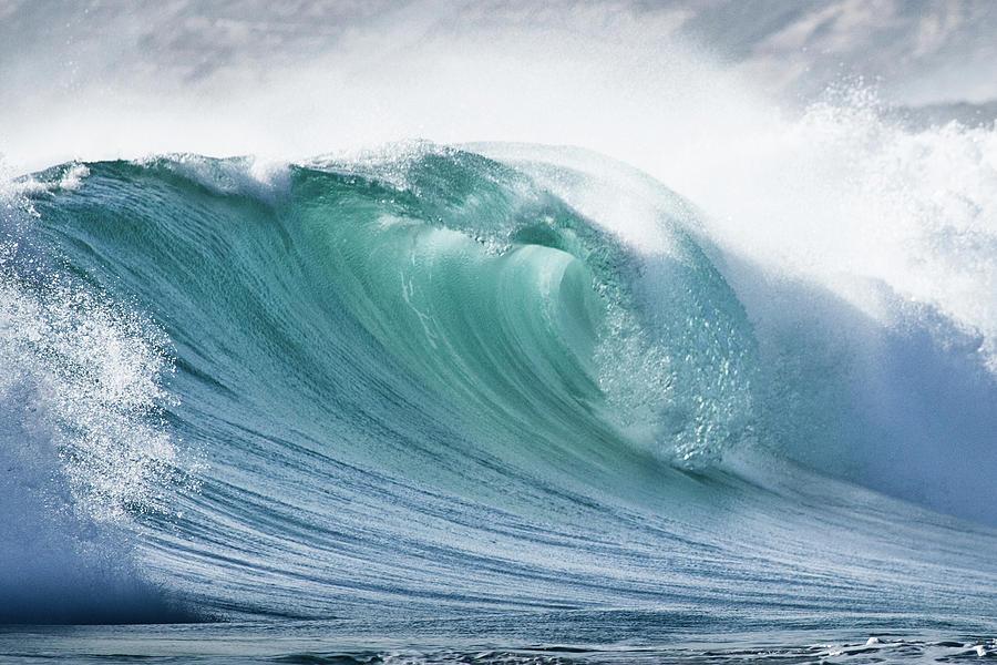Wave In Pristine Ocean Photograph
