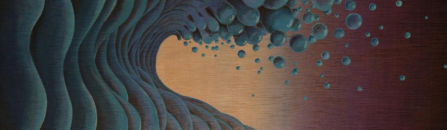 Waves Crashing Painting