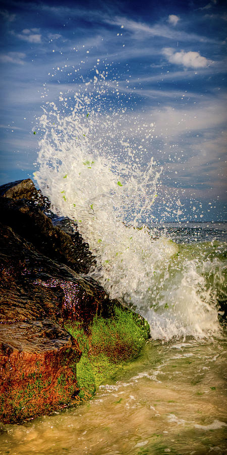 Atlantic Ocean Photograph - Waves by David Hahn
