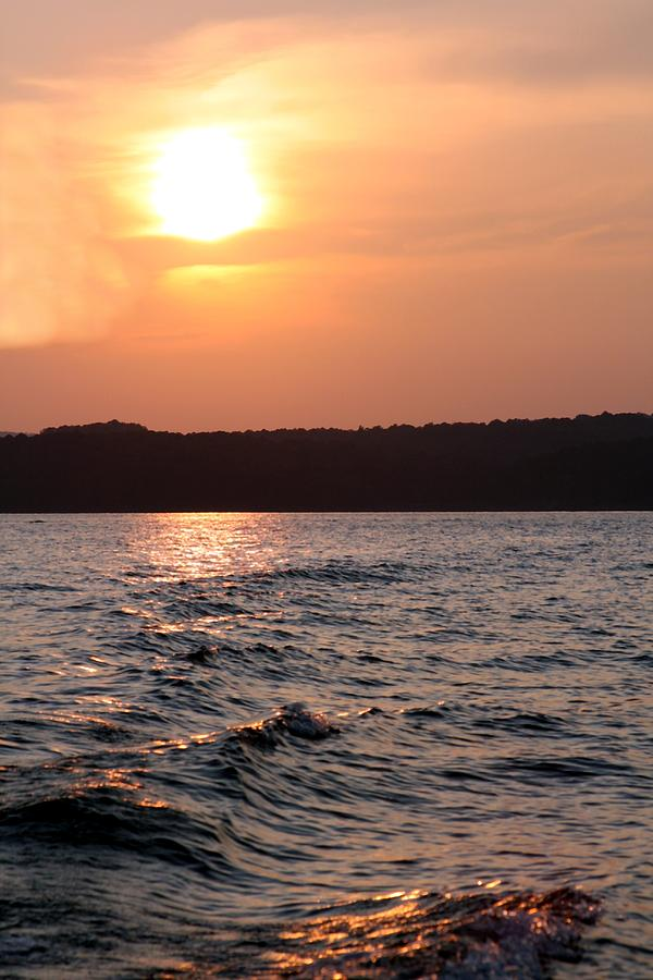 Sunset Photograph - Waves On Greers Ferry Lake by Kenna Westerman