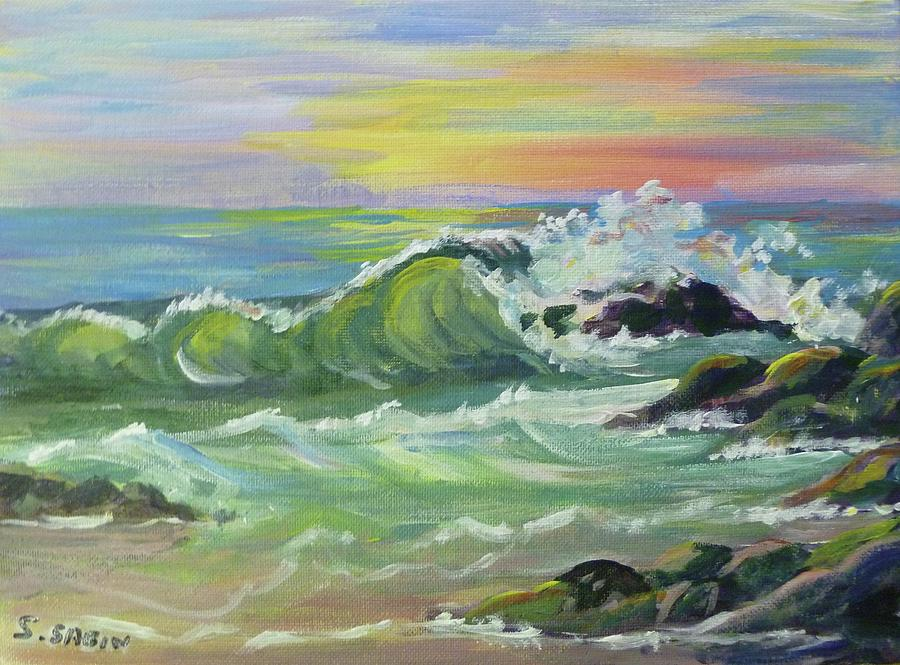 Wave Painting - Waves by Saga Sabin